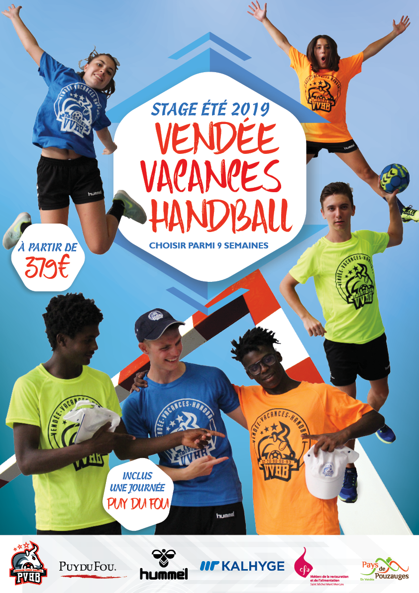 Stage vendee vacances handball 2019