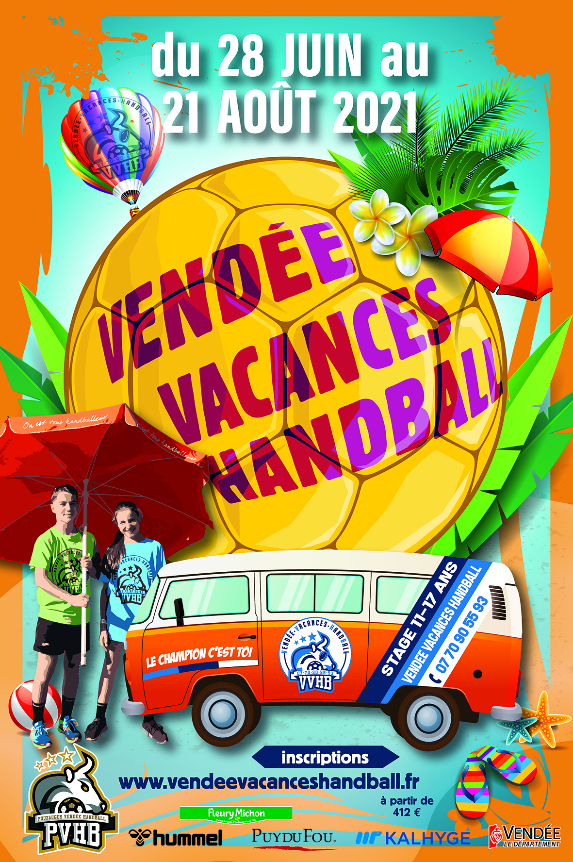 Affiche du stage vendee vacances handball